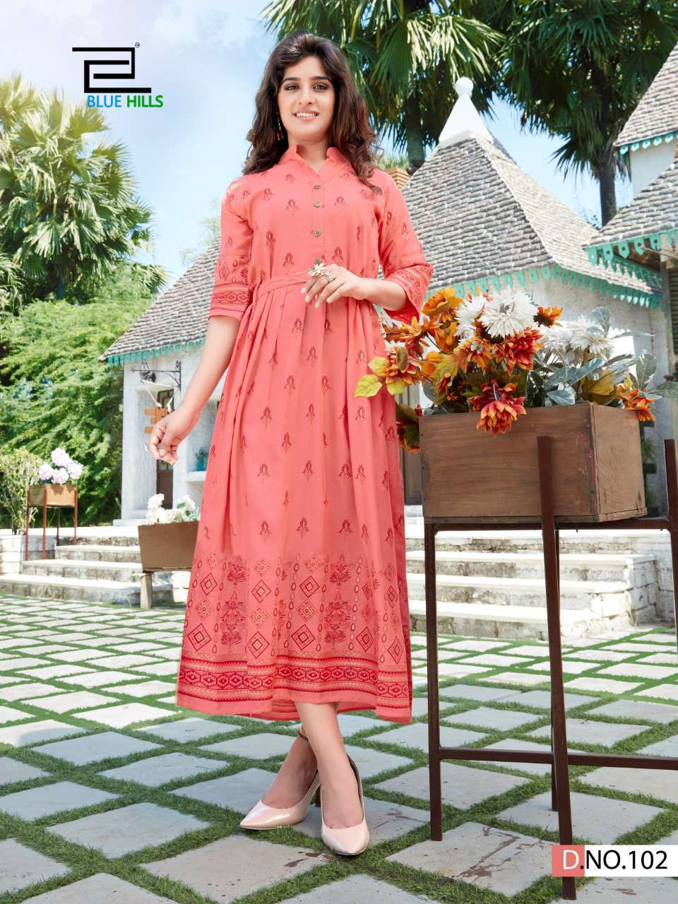 Blue Hills V Desi Kurti Wholesale Catalog 6 Pcs 9 - Blue Hills V Desi Kurti Wholesale Catalog 6 Pcs