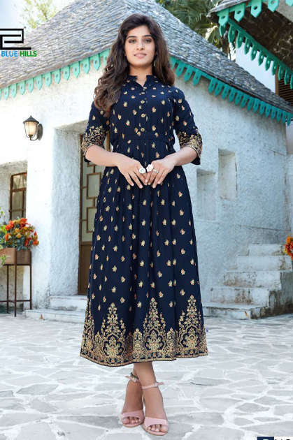 Blue Hills V Desi Kurti Wholesale Catalog 6 Pcs - Blue Hills V Desi Kurti Wholesale Catalog 6 Pcs