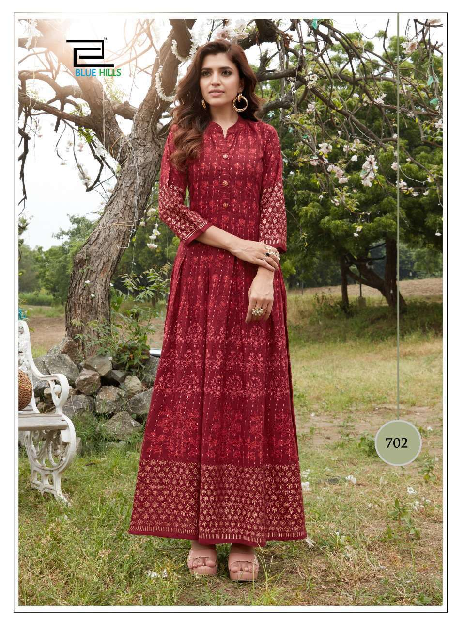 Blue Hills Walkway Vol 7 Kurti Wholesale Catalog 10 Pcs 13 - Blue Hills Walkway Vol 7 Kurti Wholesale Catalog 10 Pcs