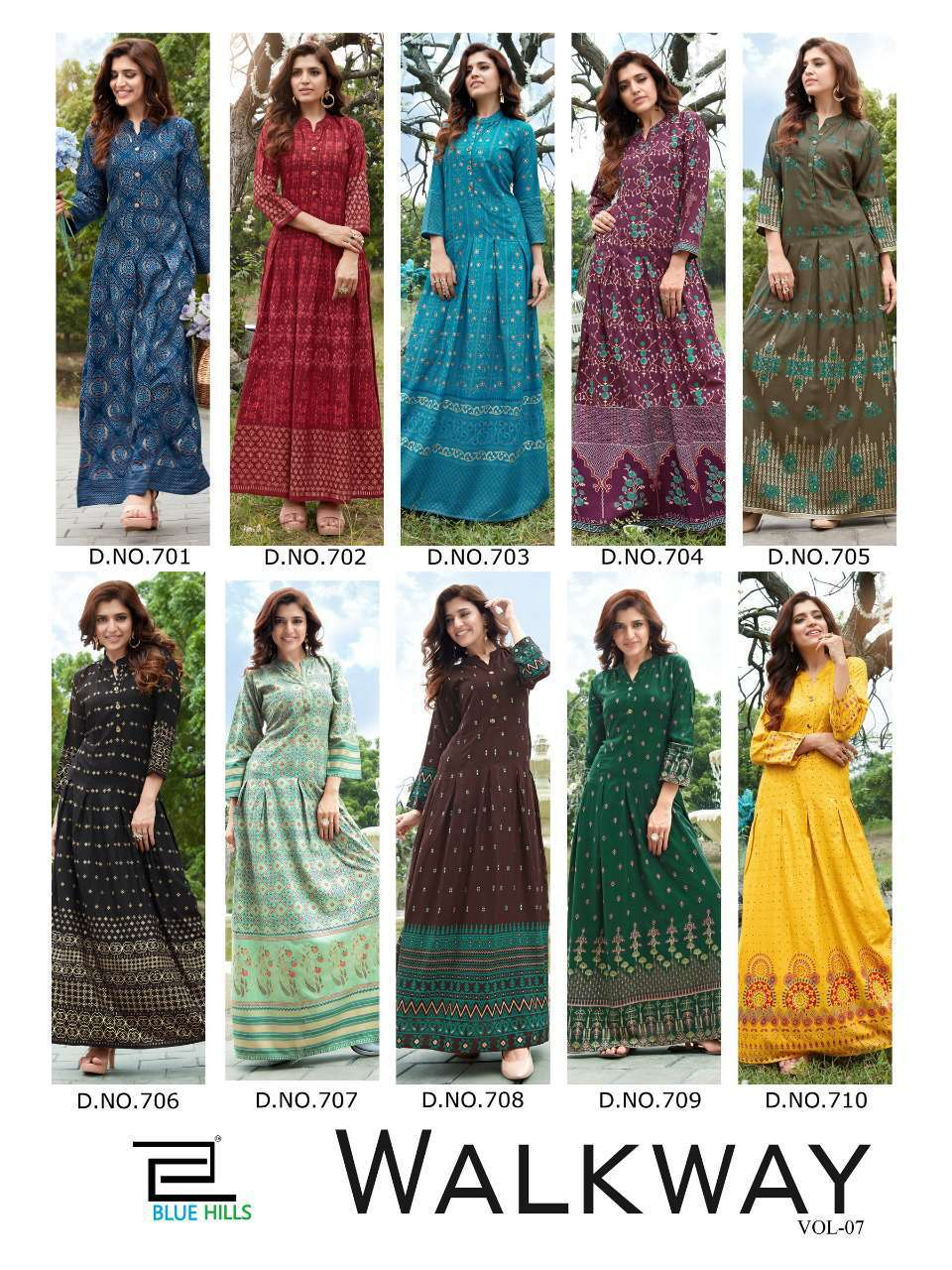 Blue Hills Walkway Vol 7 Kurti Wholesale Catalog 10 Pcs 15 - Blue Hills Walkway Vol 7 Kurti Wholesale Catalog 10 Pcs