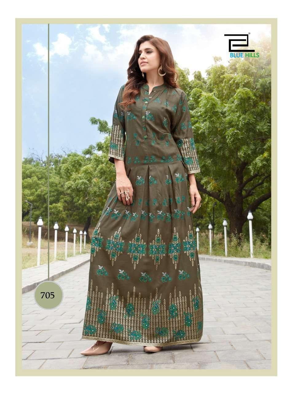 Blue Hills Walkway Vol 7 Kurti Wholesale Catalog 10 Pcs 7 - Blue Hills Walkway Vol 7 Kurti Wholesale Catalog 10 Pcs