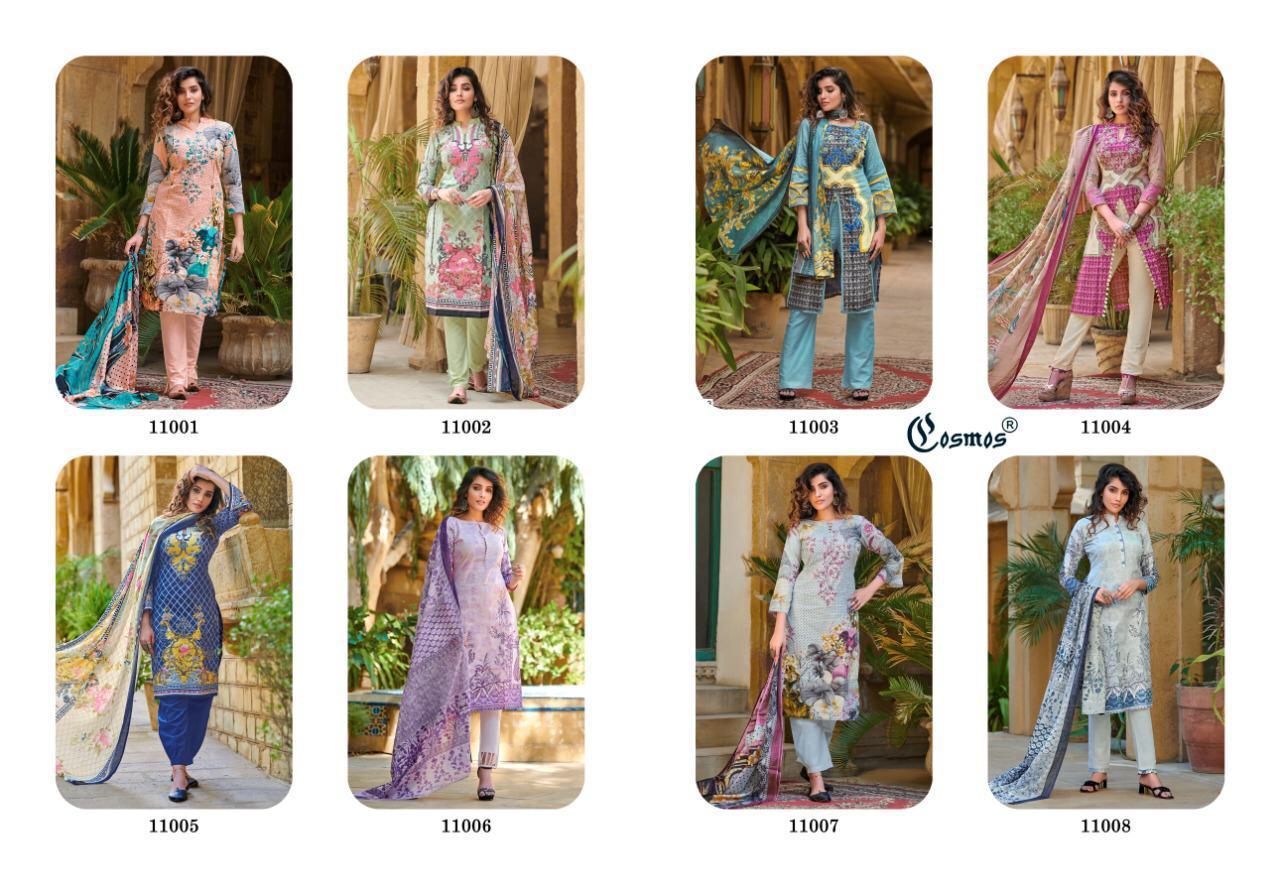 Cosmos Noor Printed Lawn Vol 2 Salwar Suit Wholesale Catalog 8 Pcs 20 - Cosmos Noor Printed Lawn Vol 2 Salwar Suit Wholesale Catalog 8 Pcs