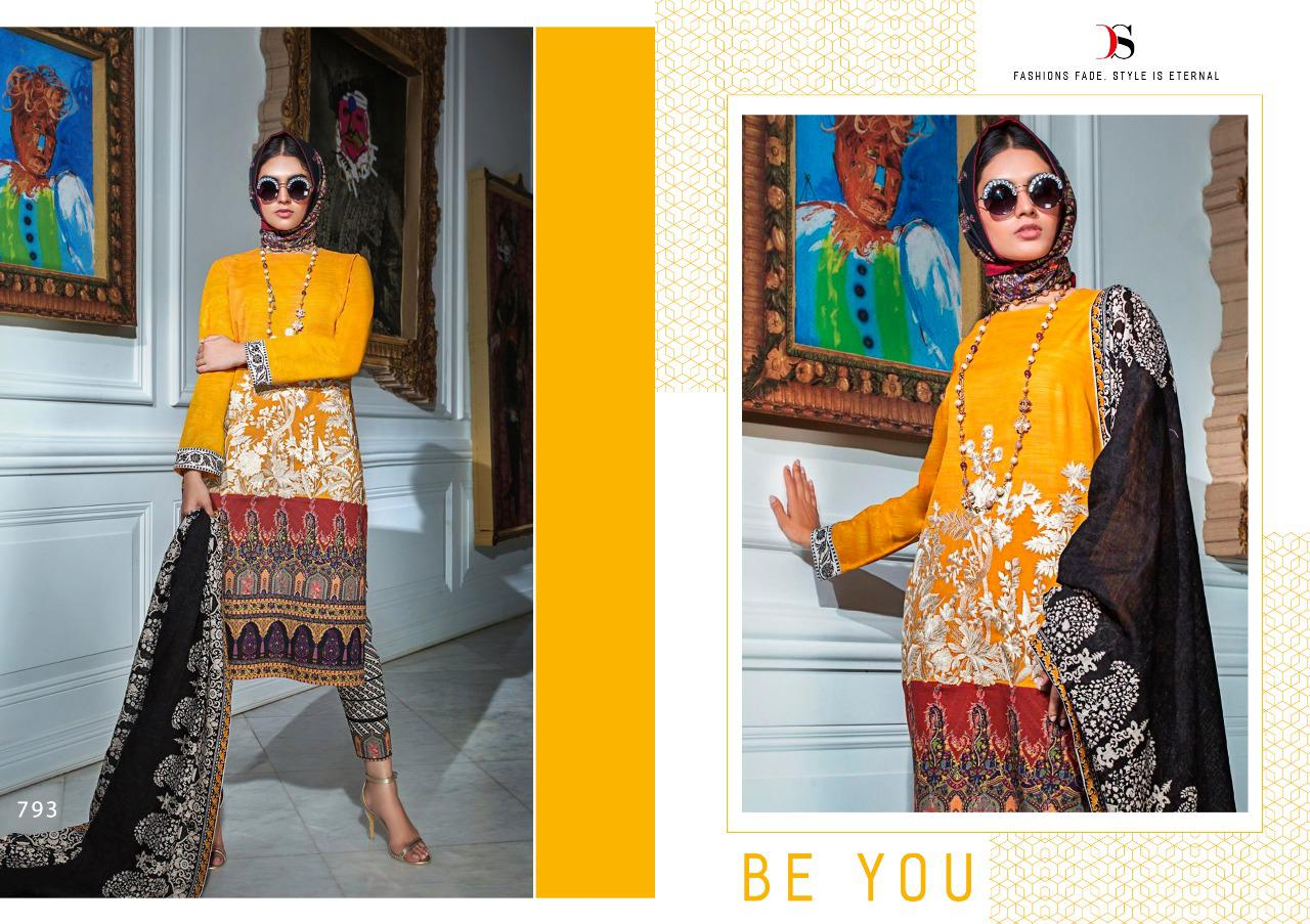 Deepsy Sana Safinaz Muzlin Pashmina Salwar Suit Wholesale Catalog 6 Pcs