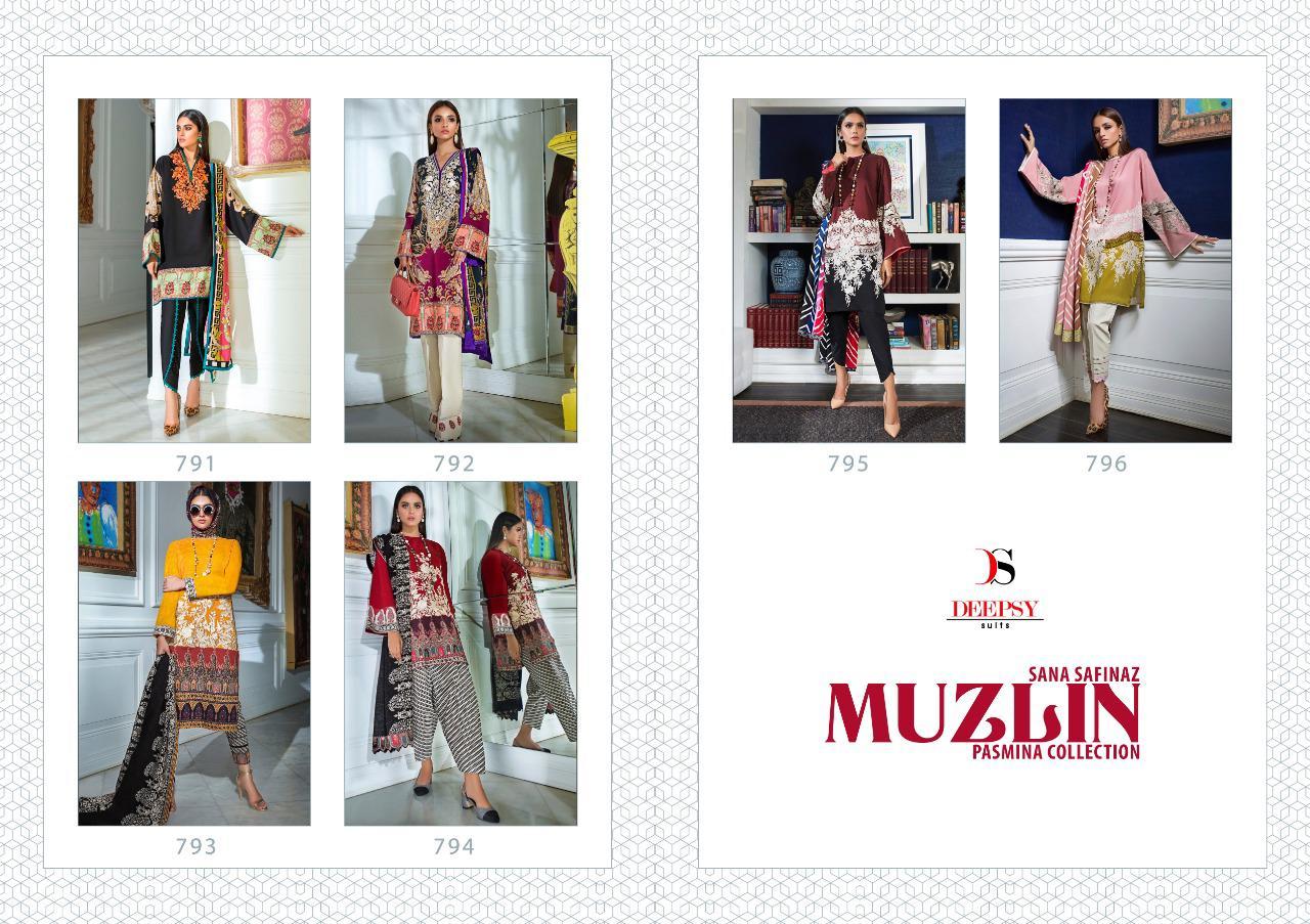 Deepsy Sana Safinaz Muzlin Pashmina Salwar Suit Wholesale Catalog 6 Pcs 10 - Deepsy Sana Safinaz Muzlin Pashmina Salwar Suit Wholesale Catalog 6 Pcs