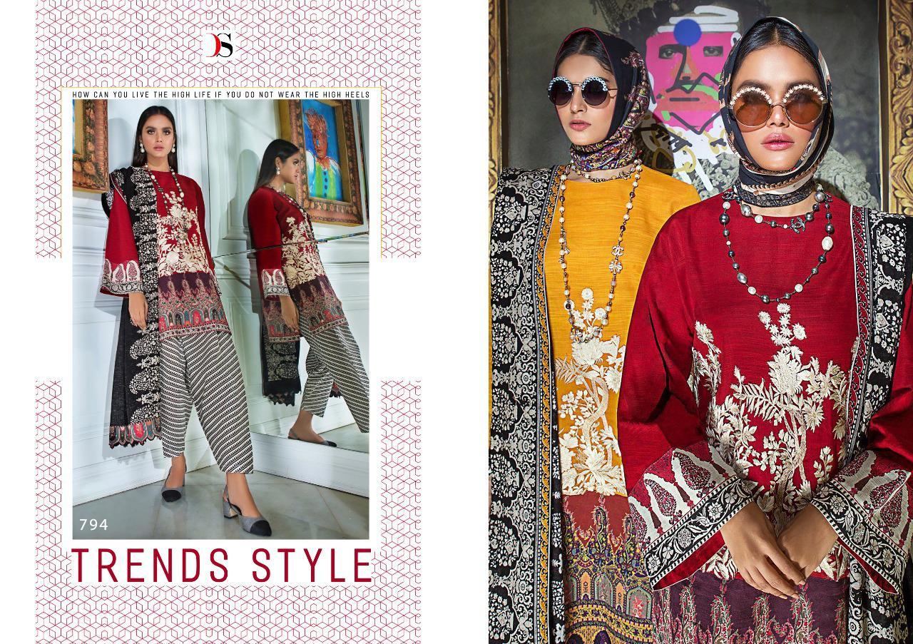 Deepsy Sana Safinaz Muzlin Pashmina Salwar Suit Wholesale Catalog 6 Pcs 6 - Deepsy Sana Safinaz Muzlin Pashmina Salwar Suit Wholesale Catalog 6 Pcs