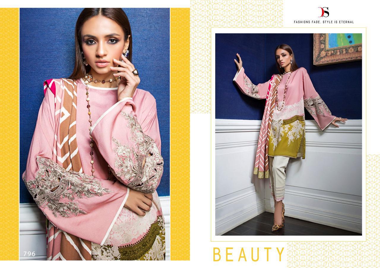 Deepsy Sana Safinaz Muzlin Pashmina Salwar Suit Wholesale Catalog 6 Pcs 8 - Deepsy Sana Safinaz Muzlin Pashmina Salwar Suit Wholesale Catalog 6 Pcs