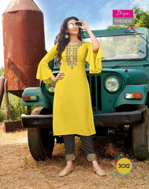 Diya Trends Forever Vol 3 by Kajal Style Kurti with Pant Wholesale Catalog 12 Pcs 12 510x646 - Diya Trends Forever Vol 3 by Kajal Style Kurti with Pant Wholesale Catalog 12 Pcs