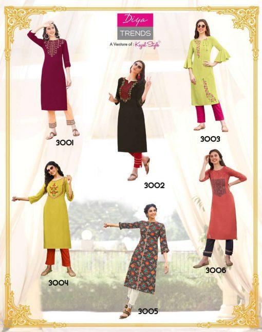Diya Trends Forever Vol 3 by Kajal Style Kurti with Pant Wholesale Catalog 12 Pcs 14 510x646 - Diya Trends Forever Vol 3 by Kajal Style Kurti with Pant Wholesale Catalog 12 Pcs