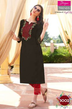 Diya Trends Forever Vol 3 by Kajal Style Kurti with Pant Wholesale Catalog 12 Pcs