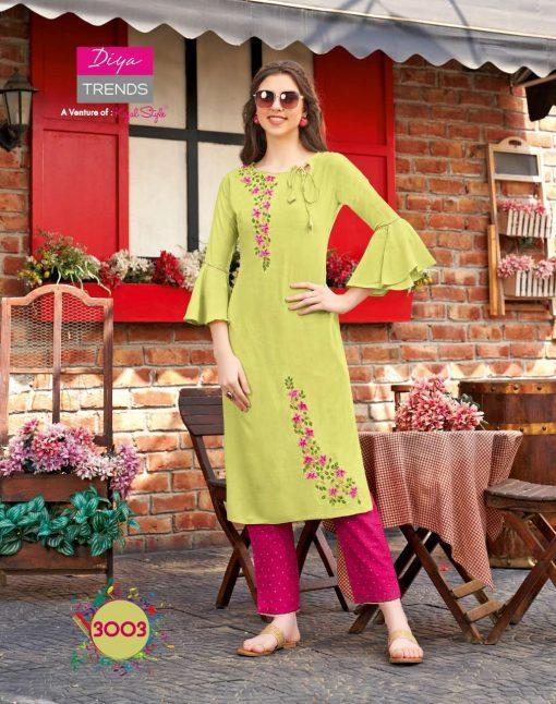 Diya Trends Forever Vol 3 by Kajal Style Kurti with Pant Wholesale Catalog 12 Pcs 3 510x646 - Diya Trends Forever Vol 3 by Kajal Style Kurti with Pant Wholesale Catalog 12 Pcs