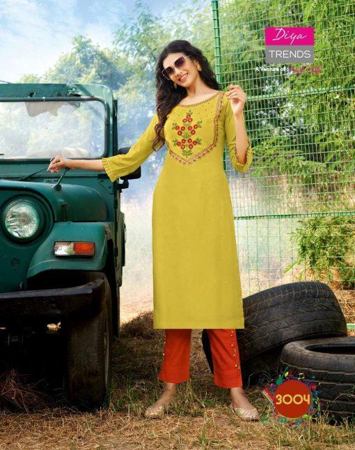 Diya Trends Forever Vol 3 by Kajal Style Kurti with Pant Wholesale Catalog 12 Pcs 4 510x646 - Diya Trends Forever Vol 3 by Kajal Style Kurti with Pant Wholesale Catalog 12 Pcs