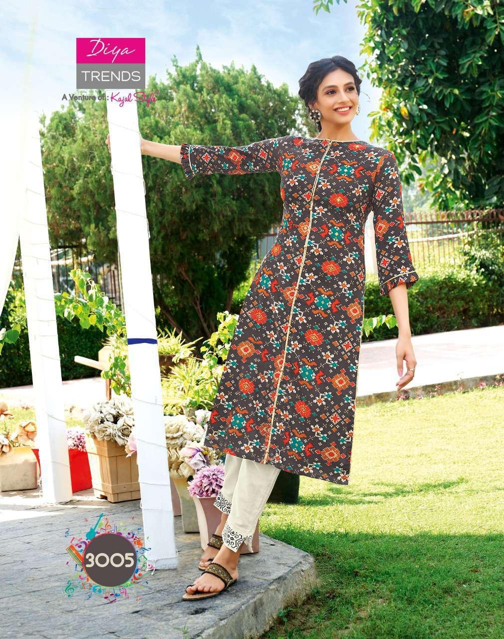 Diya Trends Forever Vol 3 by Kajal Style Kurti with Pant Wholesale Catalog 12 Pcs 5 - Diya Trends Forever Vol 3 by Kajal Style Kurti with Pant Wholesale Catalog 12 Pcs