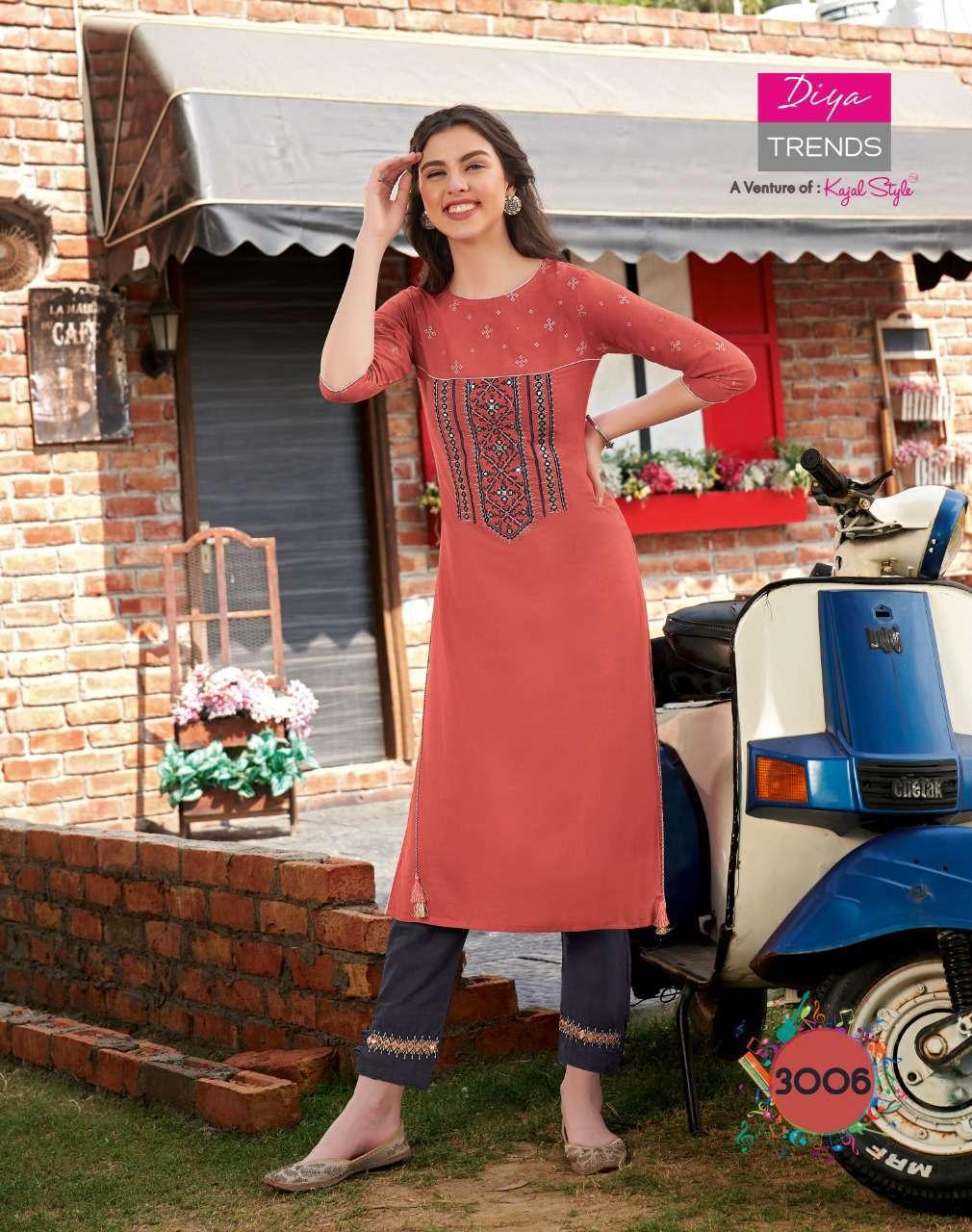 Diya Trends Forever Vol 3 by Kajal Style Kurti with Pant Wholesale Catalog 12 Pcs 7 - Diya Trends Forever Vol 3 by Kajal Style Kurti with Pant Wholesale Catalog 12 Pcs