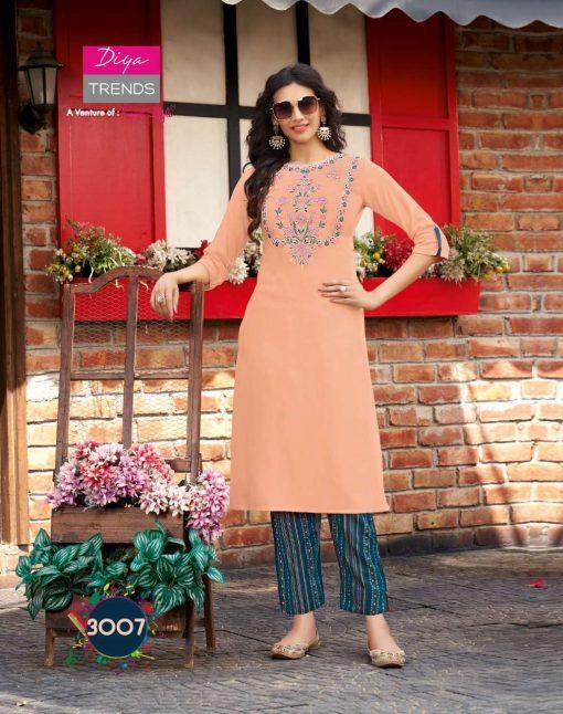 Diya Trends Forever Vol 3 by Kajal Style Kurti with Pant Wholesale Catalog 12 Pcs 8 510x646 - Diya Trends Forever Vol 3 by Kajal Style Kurti with Pant Wholesale Catalog 12 Pcs