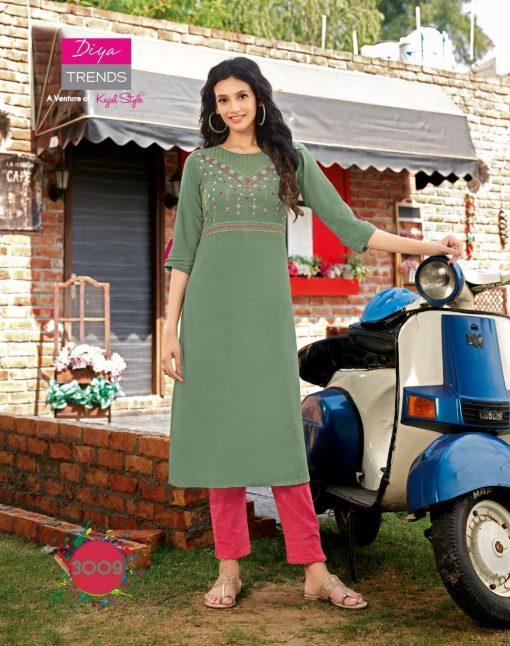 Diya Trends Forever Vol 3 by Kajal Style Kurti with Pant Wholesale Catalog 12 Pcs 9 510x646 - Diya Trends Forever Vol 3 by Kajal Style Kurti with Pant Wholesale Catalog 12 Pcs