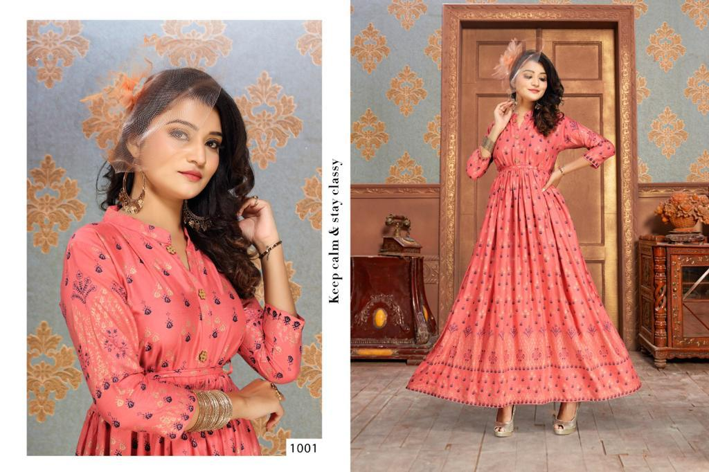 Gold Fish Vol 2 Kurti Wholesale Catalog 7 Pcs 1 - Gold Fish Vol 2 Kurti Wholesale Catalog 7 Pcs