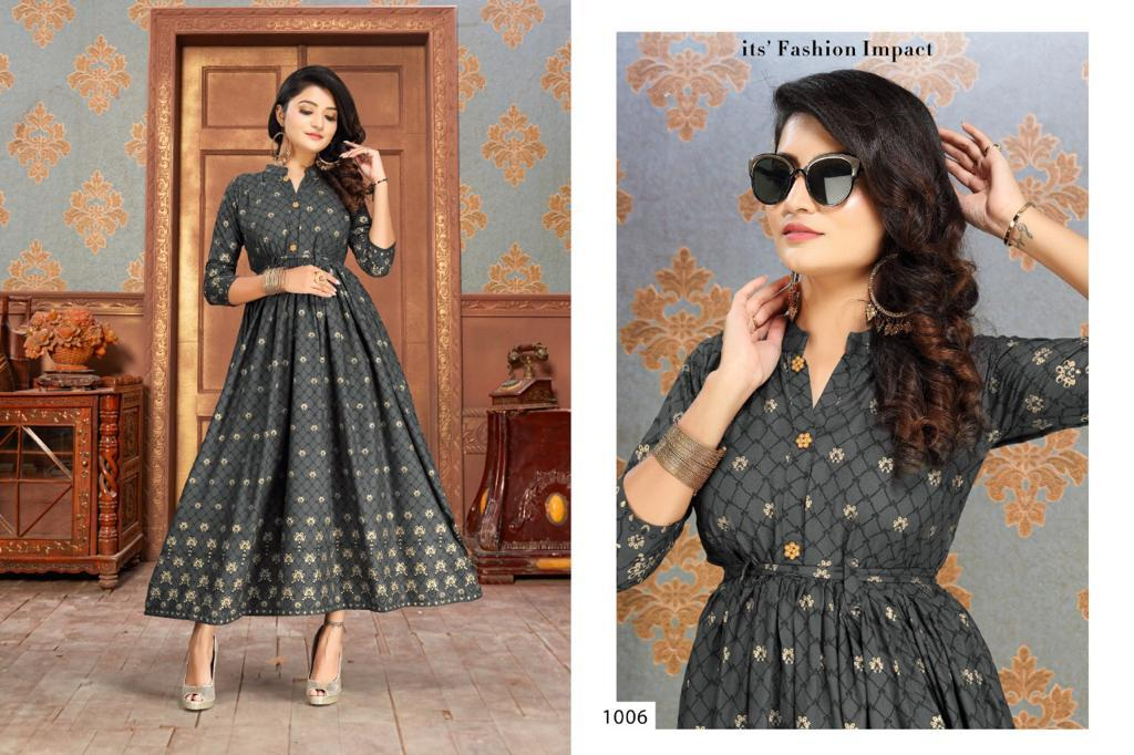 Gold Fish Vol 2 Kurti Wholesale Catalog 7 Pcs 6 - Gold Fish Vol 2 Kurti Wholesale Catalog 7 Pcs
