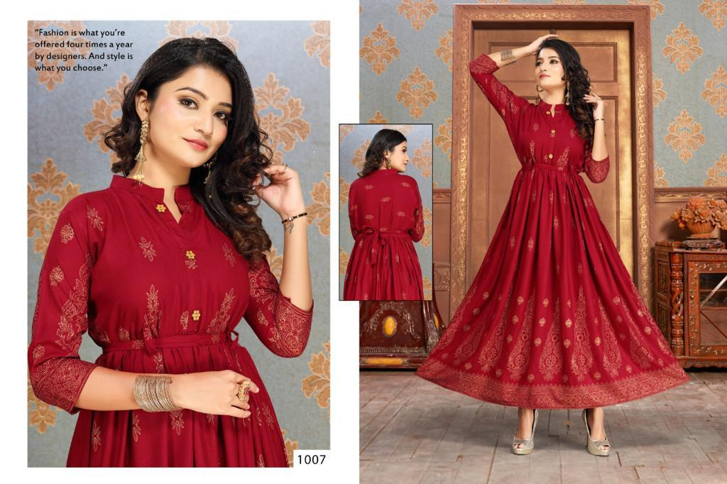 Gold Fish Vol 2 Kurti Wholesale Catalog 7 Pcs 7 - Gold Fish Vol 2 Kurti Wholesale Catalog 7 Pcs