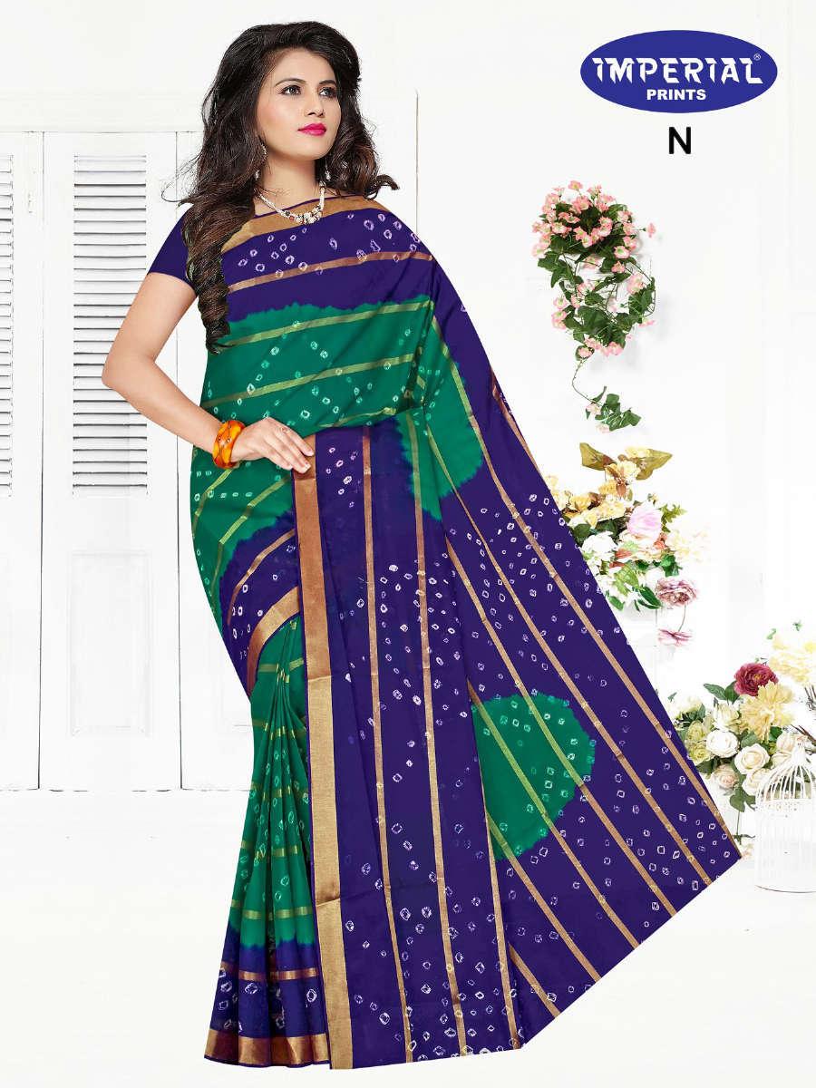 Imperial Gold Bandhani Saree Sari Wholesale Catalog 10 Pcs 1 - Imperial Gold Bandhani Saree Sari Wholesale Catalog 10 Pcs