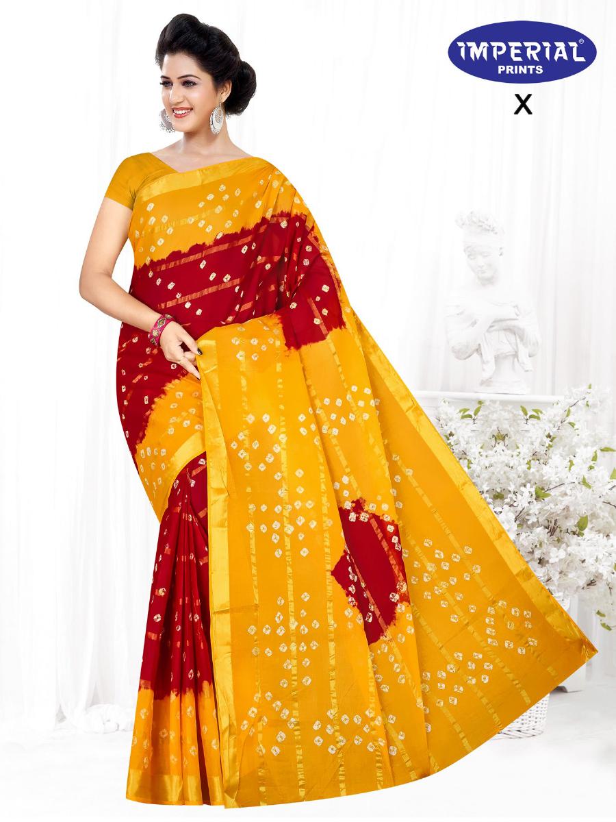 Imperial Gold Bandhani Saree Sari Wholesale Catalog 10 Pcs 9 - Imperial Gold Bandhani Saree Sari Wholesale Catalog 10 Pcs
