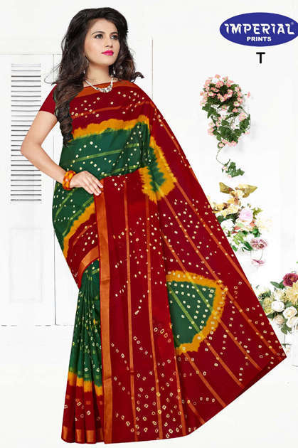 Imperial Gold Bandhani Saree Sari Wholesale Catalog 10 Pcs - Imperial Gold Bandhani Saree Sari Wholesale Catalog 10 Pcs