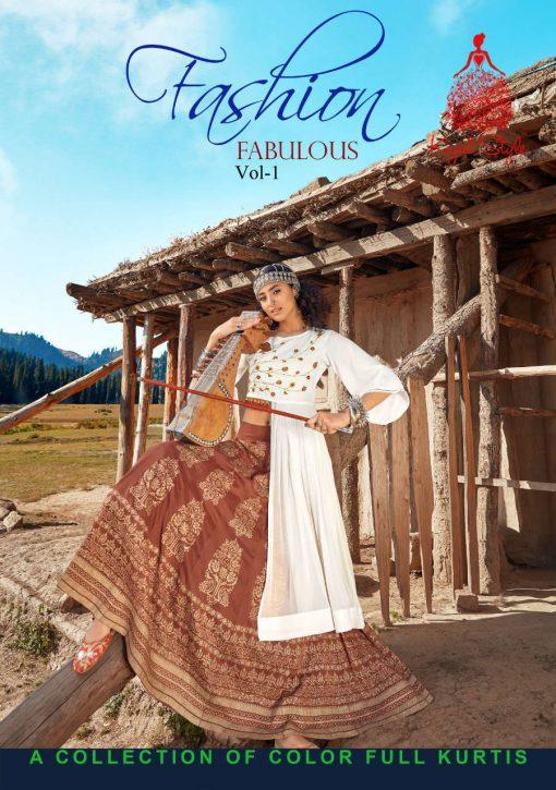 Kajal Style Fashion Fabulous Vol 1 Kurti with Skirt Wholesale Catalog 8 Pcs 1 510x725 - Kajal Style Fashion Fabulous Vol 1 Kurti with Skirt Wholesale Catalog 8 Pcs
