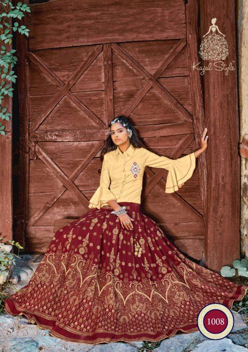 Kajal Style Fashion Fabulous Vol 1 Kurti with Skirt Wholesale Catalog 8 Pcs 13 510x725 - Kajal Style Fashion Fabulous Vol 1 Kurti with Skirt Wholesale Catalog 8 Pcs