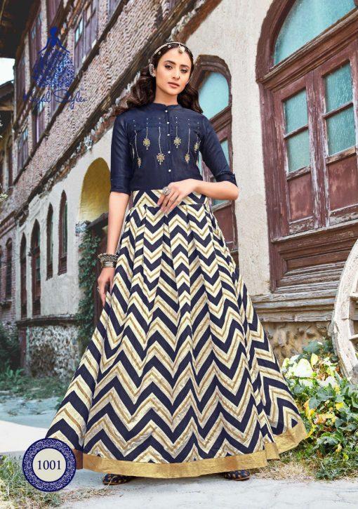 Kajal Style Fashion Fabulous Vol 1 Kurti with Skirt Wholesale Catalog 8 Pcs 4 510x725 - Kajal Style Fashion Fabulous Vol 1 Kurti with Skirt Wholesale Catalog 8 Pcs