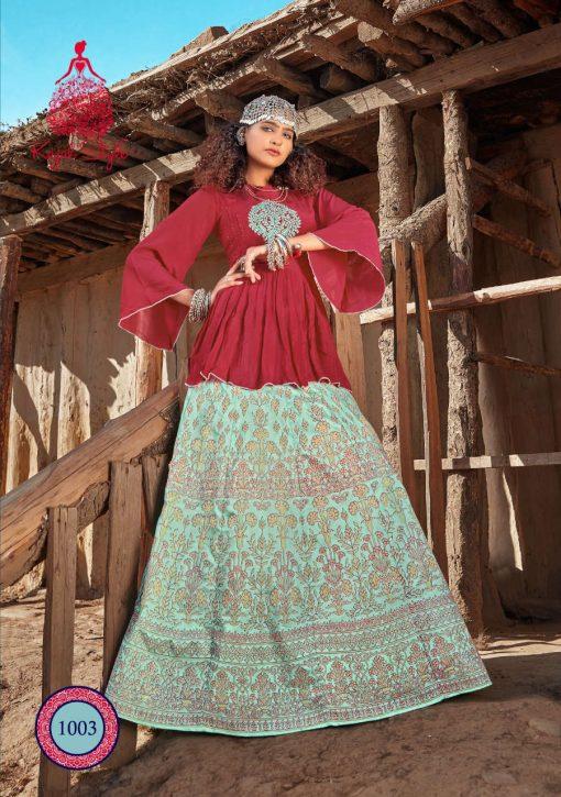 Kajal Style Fashion Fabulous Vol 1 Kurti with Skirt Wholesale Catalog 8 Pcs 6 510x725 - Kajal Style Fashion Fabulous Vol 1 Kurti with Skirt Wholesale Catalog 8 Pcs