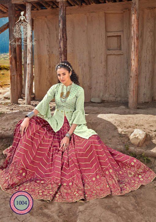 Kajal Style Fashion Fabulous Vol 1 Kurti with Skirt Wholesale Catalog 8 Pcs 8 510x725 - Kajal Style Fashion Fabulous Vol 1 Kurti with Skirt Wholesale Catalog 8 Pcs