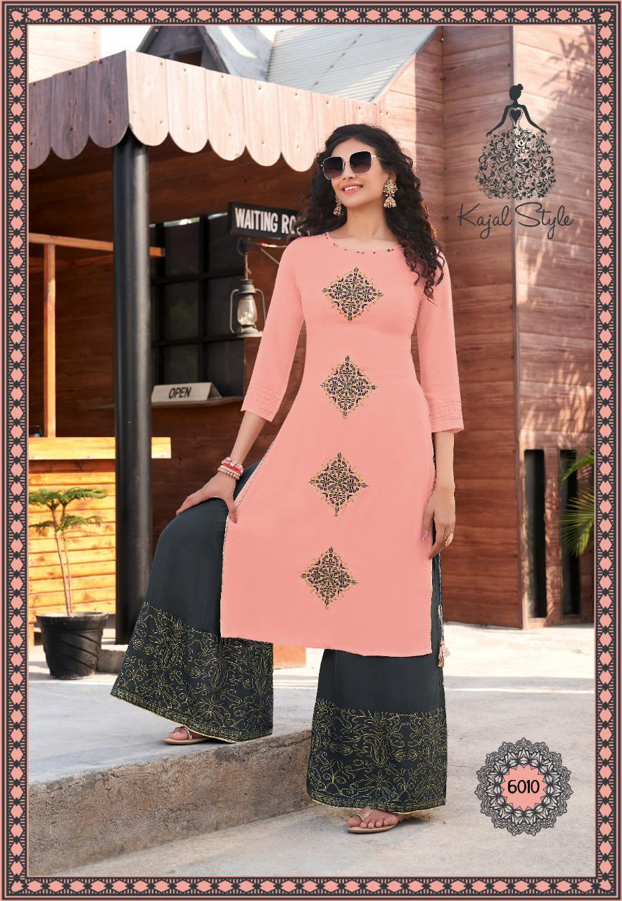 Kajal Style Fashion Label Vol 6 Kurti with Palazzo Sharara Pant Skirt Wholesale Catalog 12 Pcs 12 - Kajal Style Fashion Label Vol 6 Kurti with Palazzo Sharara Pant Skirt Wholesale Catalog 12 Pcs