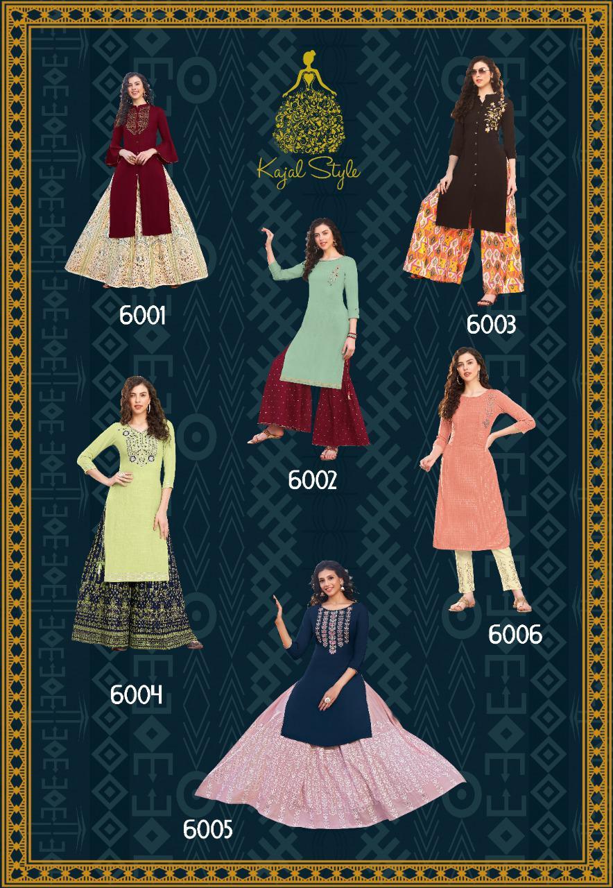 Kajal Style Fashion Label Vol 6 Kurti with Palazzo Sharara Pant Skirt Wholesale Catalog 12 Pcs 13 - Kajal Style Fashion Label Vol 6 Kurti with Palazzo Sharara Pant Skirt Wholesale Catalog 12 Pcs