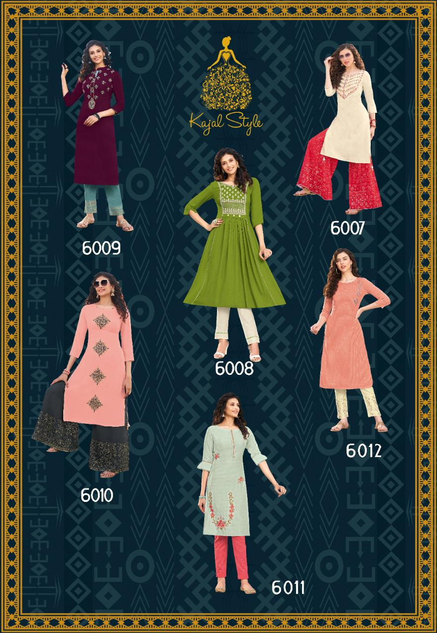 Kajal Style Fashion Label Vol 6 Kurti with Palazzo Sharara Pant Skirt Wholesale Catalog 12 Pcs 14 - Kajal Style Fashion Label Vol 6 Kurti with Palazzo Sharara Pant Skirt Wholesale Catalog 12 Pcs