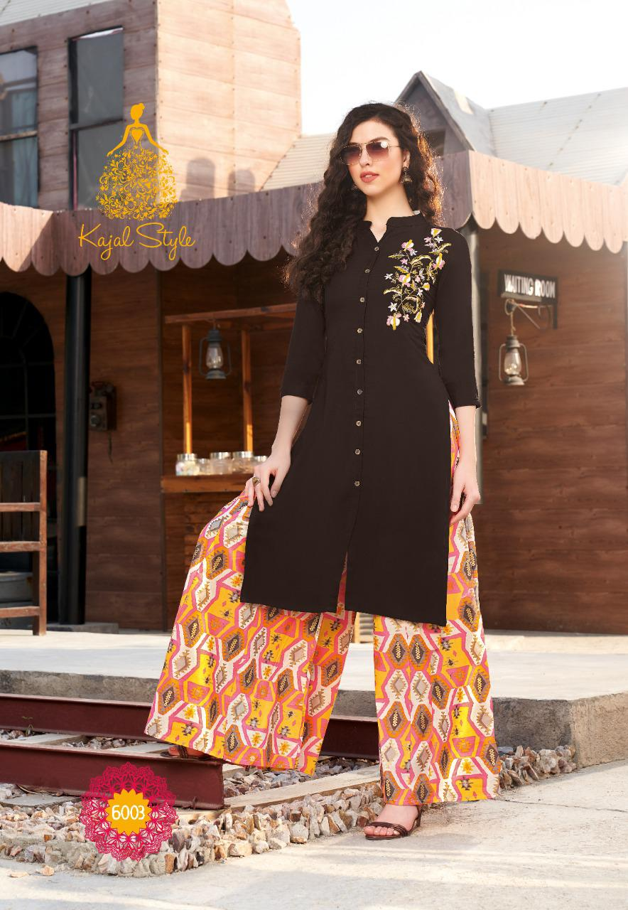 Kajal Style Fashion Label Vol 6 Kurti with Palazzo Sharara Pant Skirt Wholesale Catalog 12 Pcs 3 - Kajal Style Fashion Label Vol 6 Kurti with Palazzo Sharara Pant Skirt Wholesale Catalog 12 Pcs