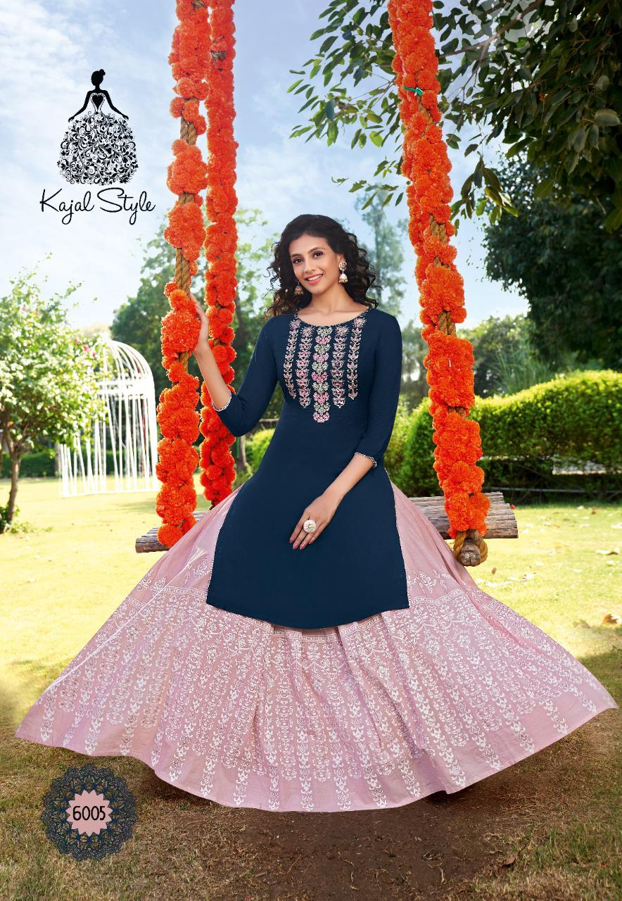 Kajal Style Fashion Label Vol 6 Kurti with Palazzo Sharara Pant Skirt Wholesale Catalog 12 Pcs 5 - Kajal Style Fashion Label Vol 6 Kurti with Palazzo Sharara Pant Skirt Wholesale Catalog 12 Pcs