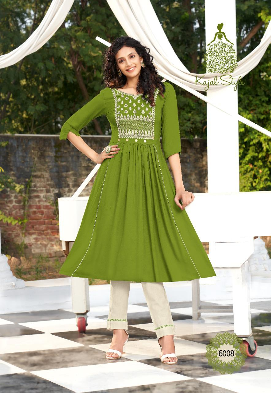 Kajal Style Fashion Label Vol 6 Kurti with Palazzo Sharara Pant Skirt Wholesale Catalog 12 Pcs 6 - Kajal Style Fashion Label Vol 6 Kurti with Palazzo Sharara Pant Skirt Wholesale Catalog 12 Pcs