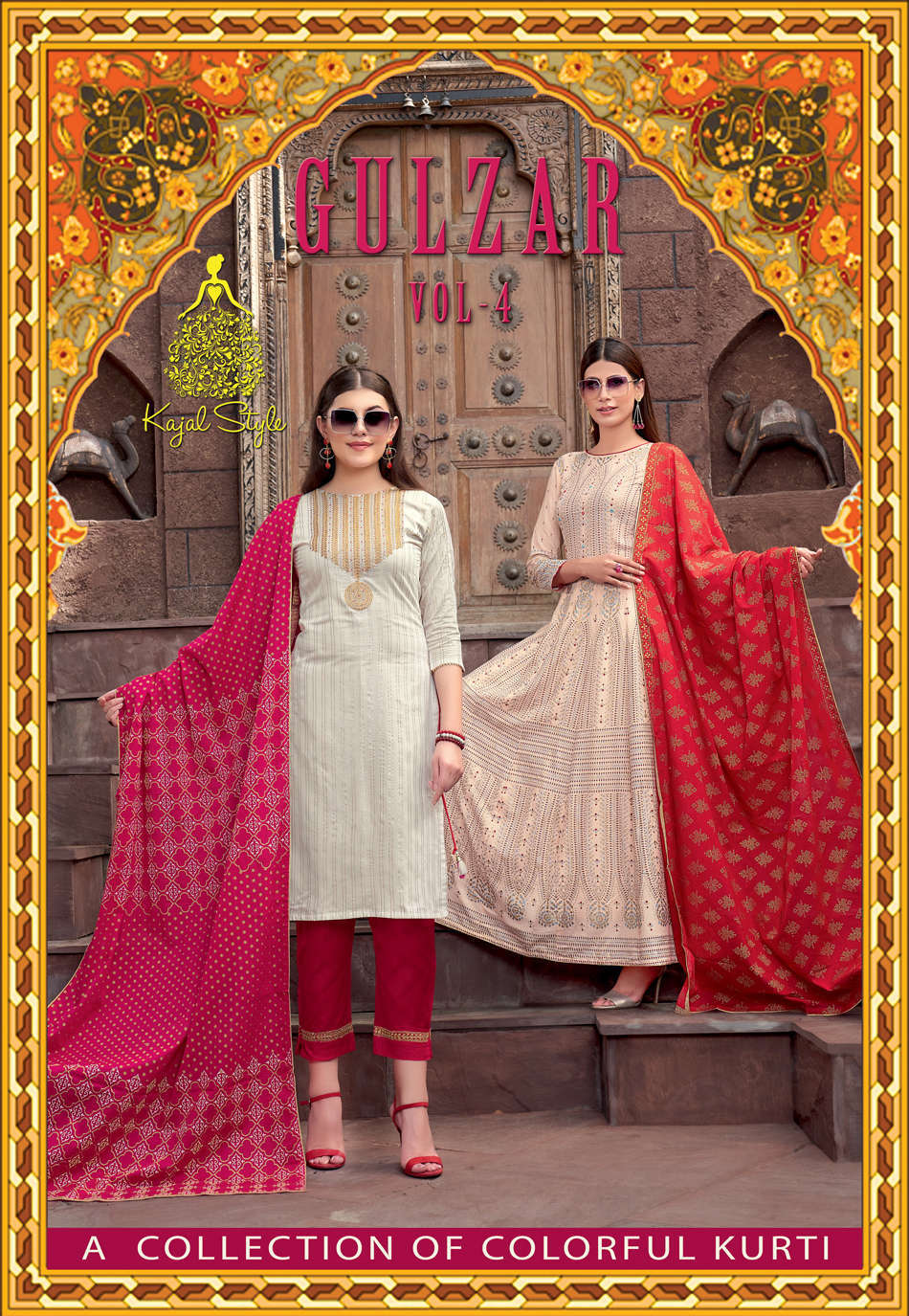 Kajal Style Gulzar Vol 4 Kurti with Dupatta Bottom Wholesale Catalog 8 Pcs 1 - Kajal Style Gulzar Vol 4 Kurti with Dupatta Bottom Wholesale Catalog 8 Pcs