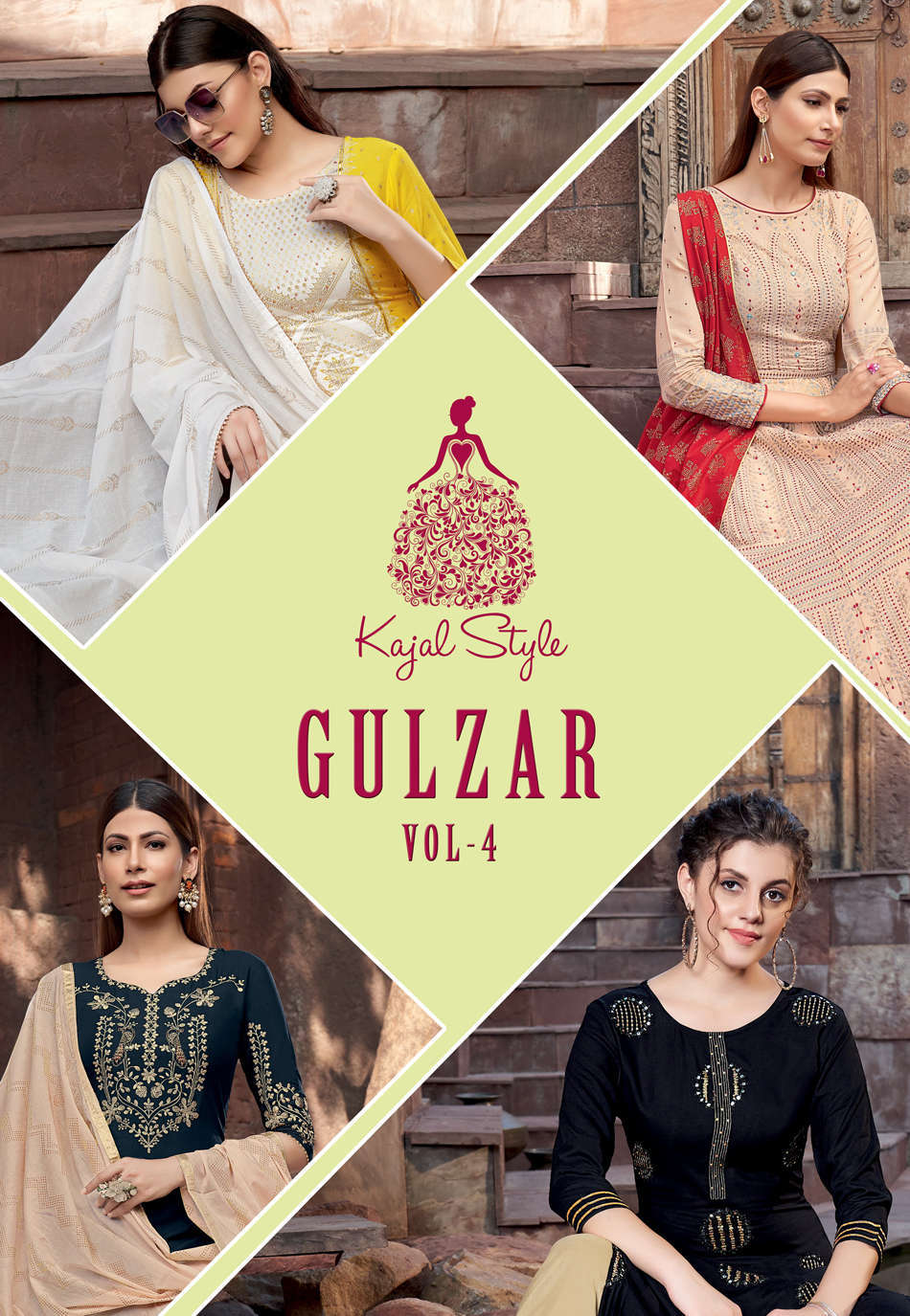 Kajal Style Gulzar Vol 4 Kurti with Dupatta Bottom Wholesale Catalog 8 Pcs 3 - Kajal Style Gulzar Vol 4 Kurti with Dupatta Bottom Wholesale Catalog 8 Pcs