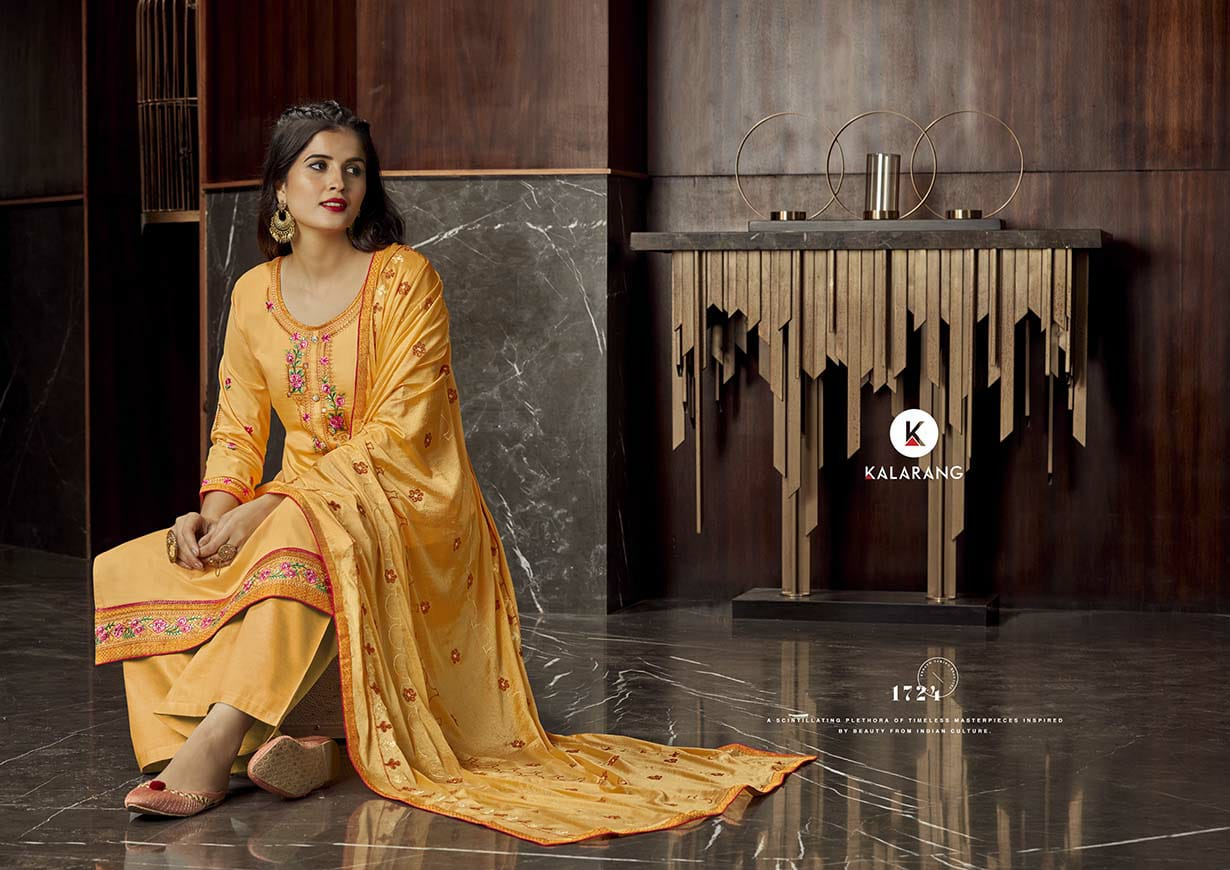 Kalarang Milah by Kessi Salwar Suit Wholesale Catalog 4 Pcs 4 - Kalarang Milah by Kessi Salwar Suit Wholesale Catalog 4 Pcs