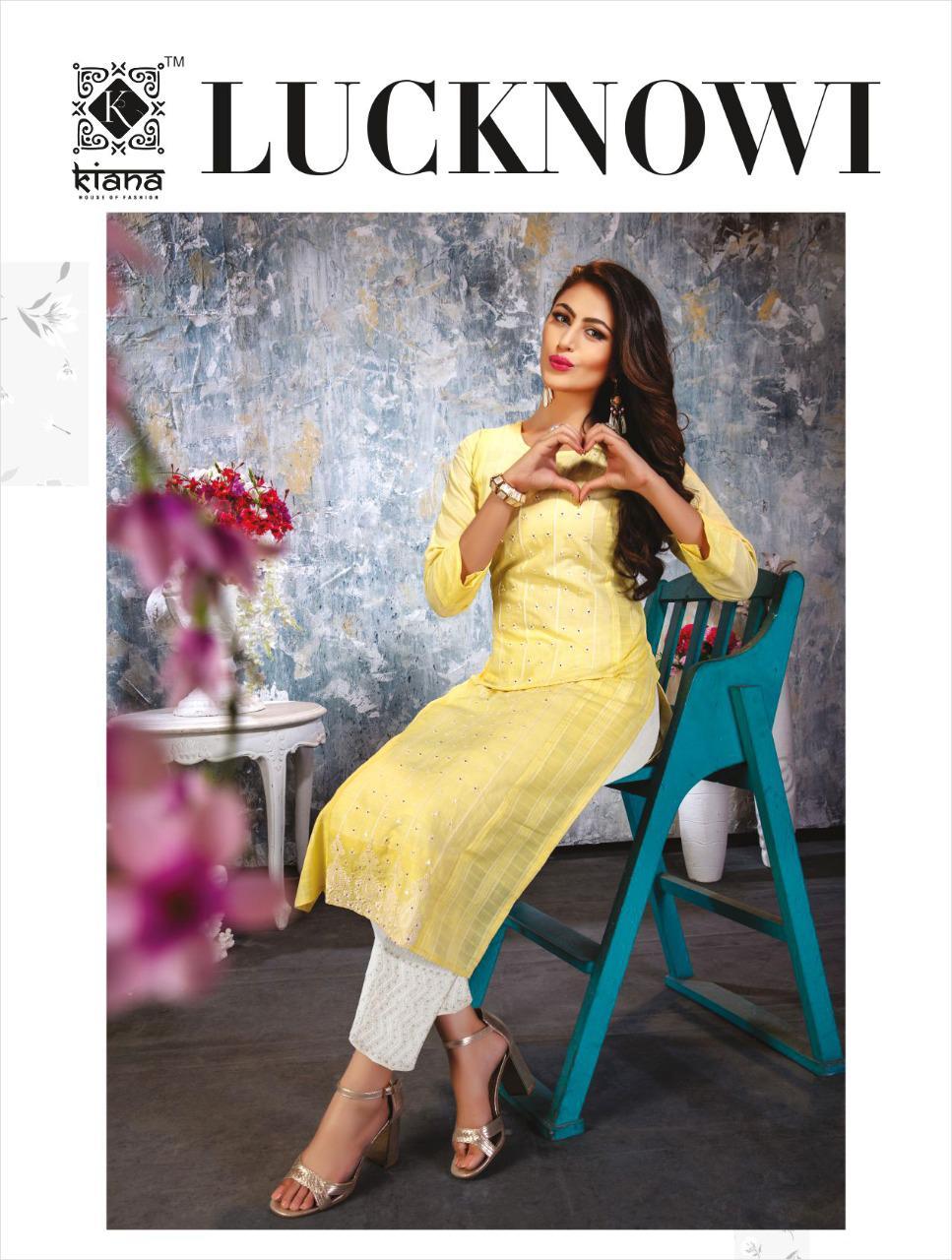 Kiana Lucknowi Kurti with Pant Wholesale Catalog 6 Pcs 1 - Kiana Lucknowi Kurti with Pant Wholesale Catalog 6 Pcs
