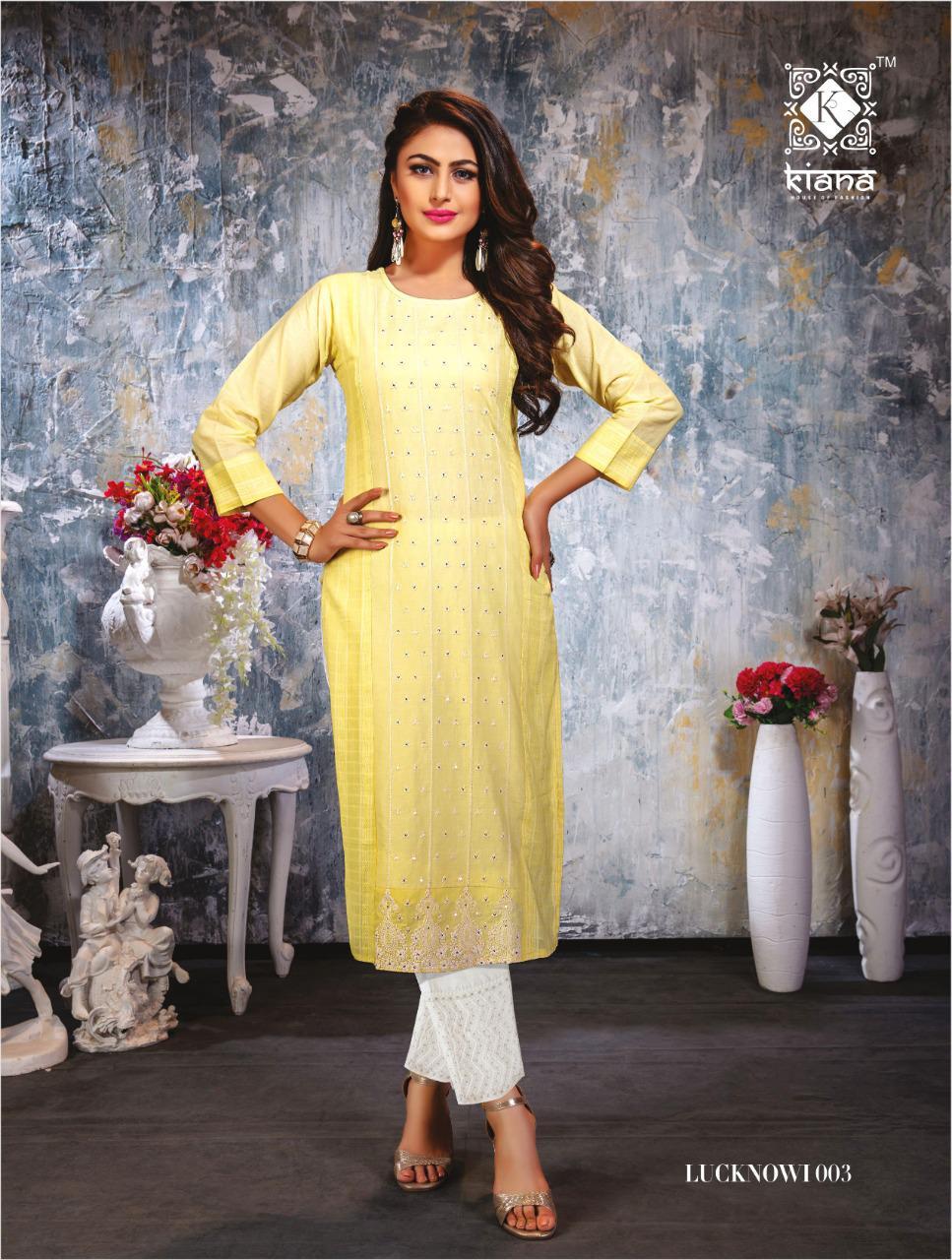 Kiana Lucknowi Kurti with Pant Wholesale Catalog 6 Pcs 18 - Kiana Lucknowi Kurti with Pant Wholesale Catalog 6 Pcs