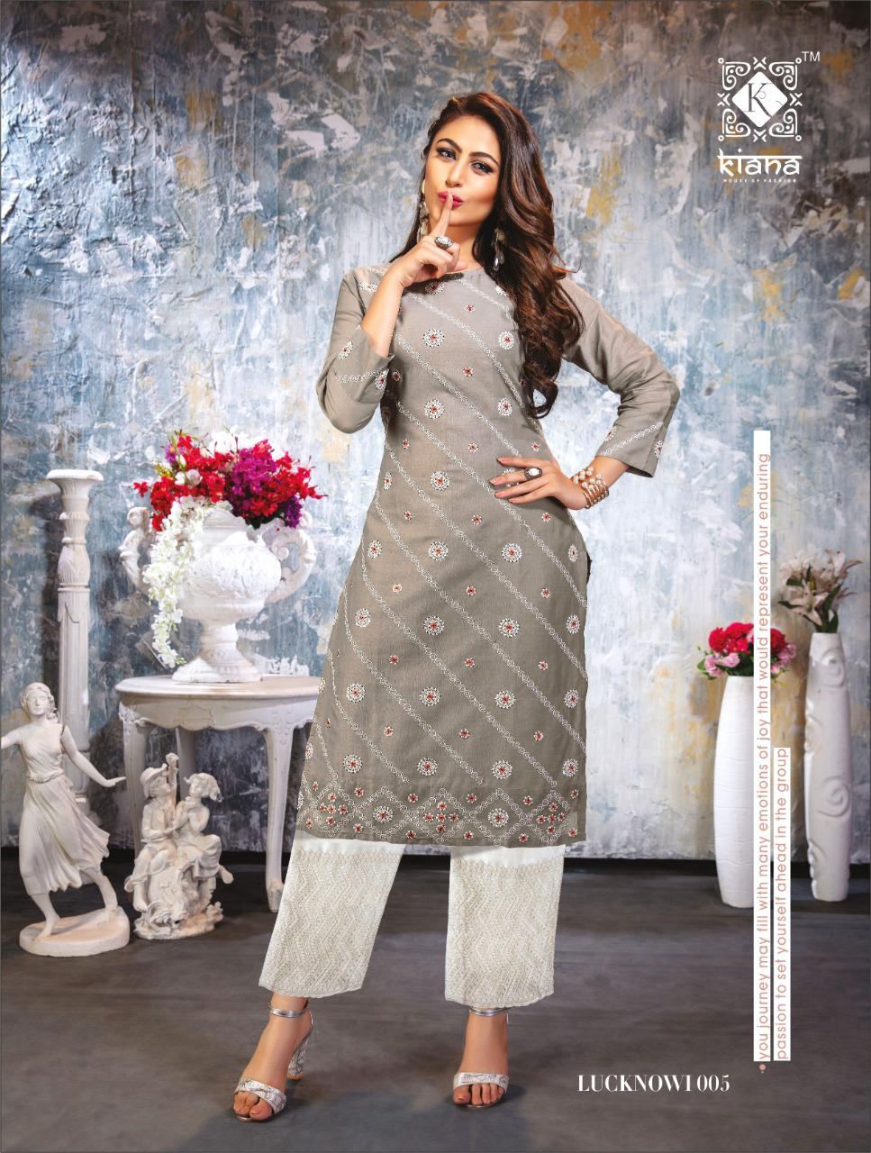 Kiana Lucknowi Kurti with Pant Wholesale Catalog 6 Pcs 23 - Kiana Lucknowi Kurti with Pant Wholesale Catalog 6 Pcs