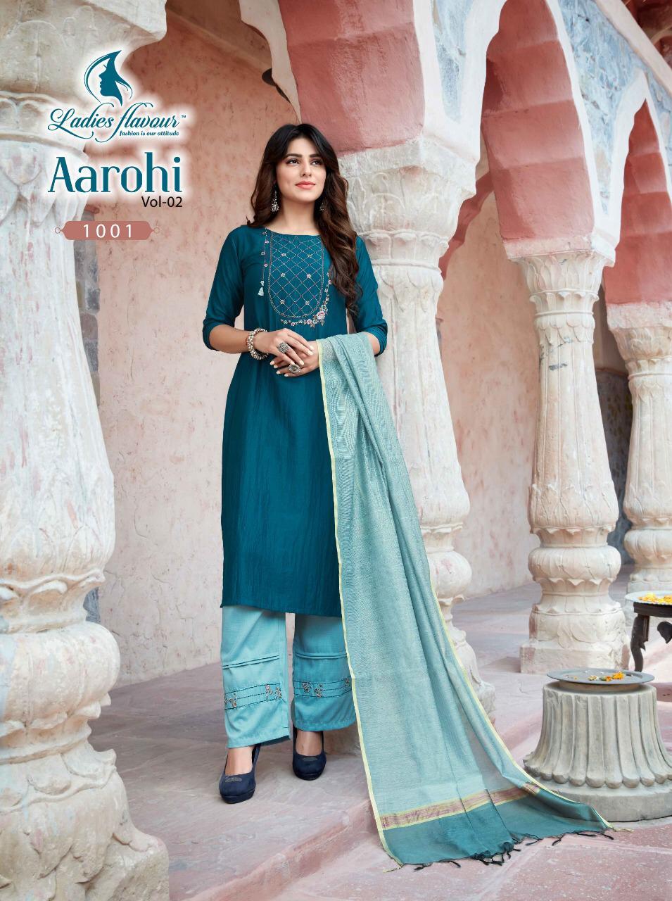 Ladies Flavour Aarohi Vol 2 Kurti with Bottom Dupatta Wholesale Catalog 8 Pcs 3 - Ladies Flavour Aarohi Vol 2 Kurti with Bottom Dupatta Wholesale Catalog 8 Pcs