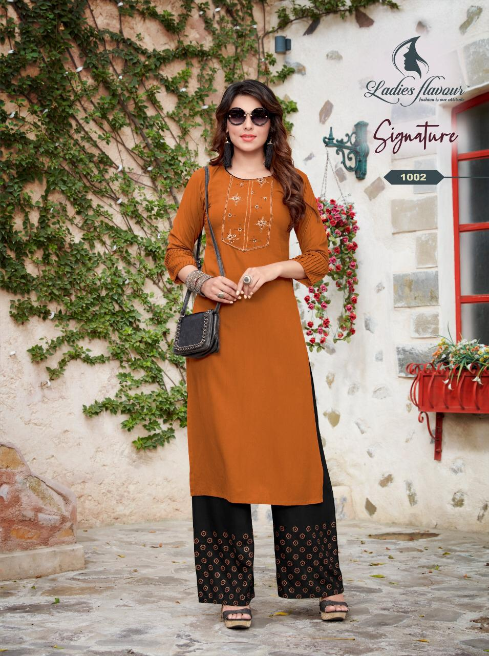 Ladies Flavour Signature Vol 3 Kurti with Palazzo Wholesale Catalog 8 Pcs 10 - Ladies Flavour Signature Vol 3 Kurti with Palazzo Wholesale Catalog 8 Pcs