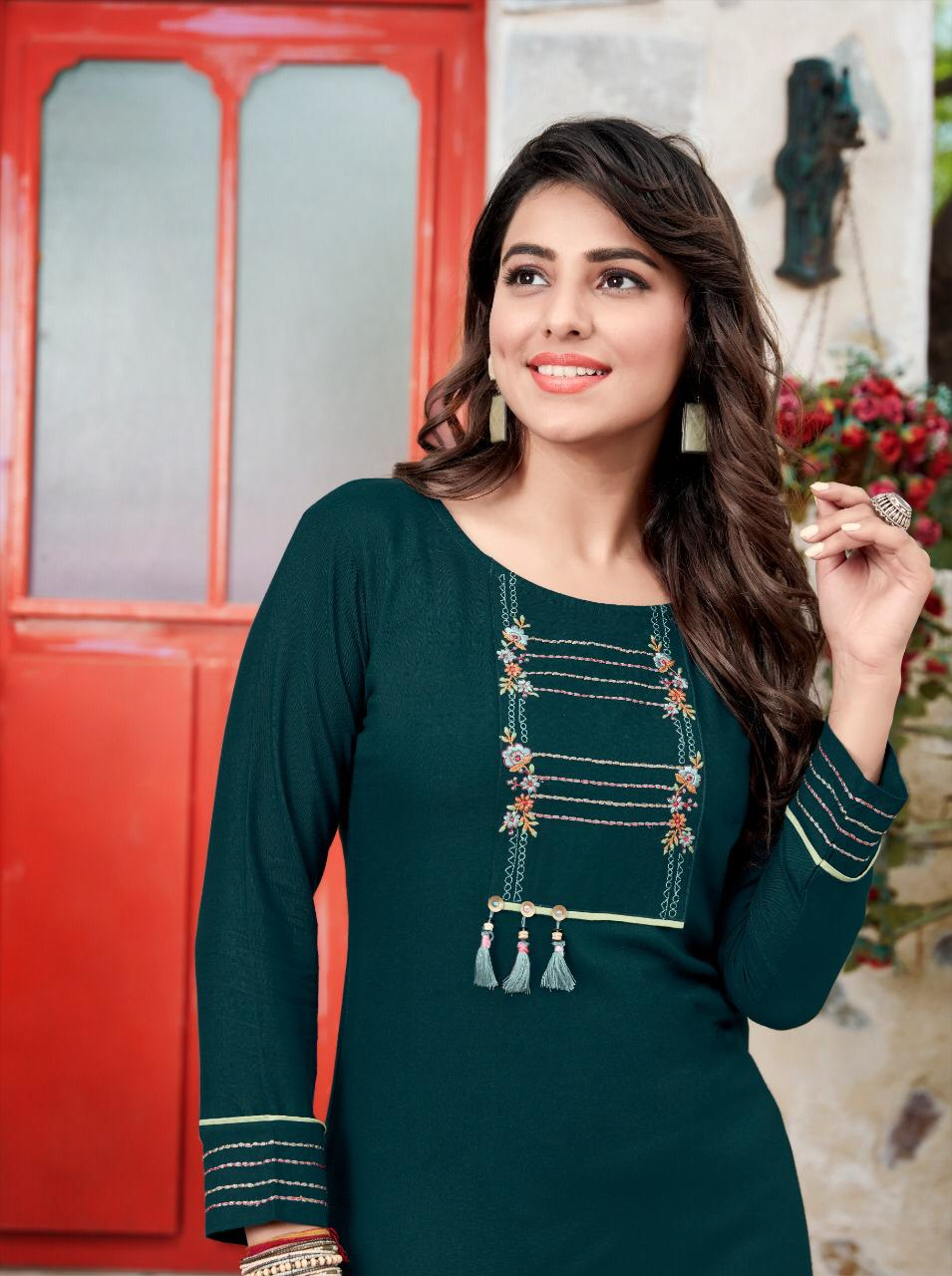 Ladies Flavour Signature Vol 3 Kurti with Palazzo Wholesale Catalog 8 Pcs 12 - Ladies Flavour Signature Vol 3 Kurti with Palazzo Wholesale Catalog 8 Pcs