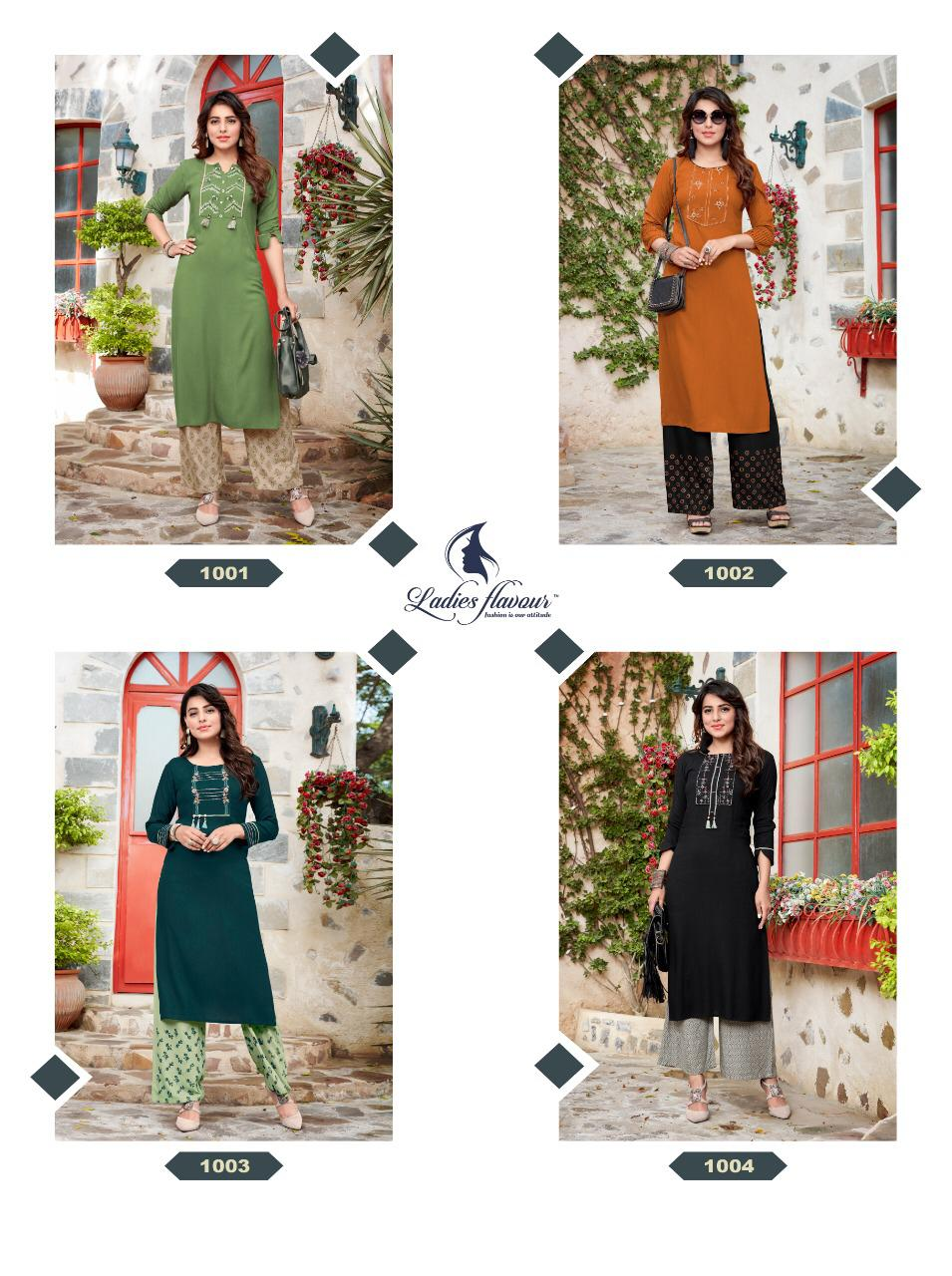 Ladies Flavour Signature Vol 3 Kurti with Palazzo Wholesale Catalog 8 Pcs 18 - Ladies Flavour Signature Vol 3 Kurti with Palazzo Wholesale Catalog 8 Pcs