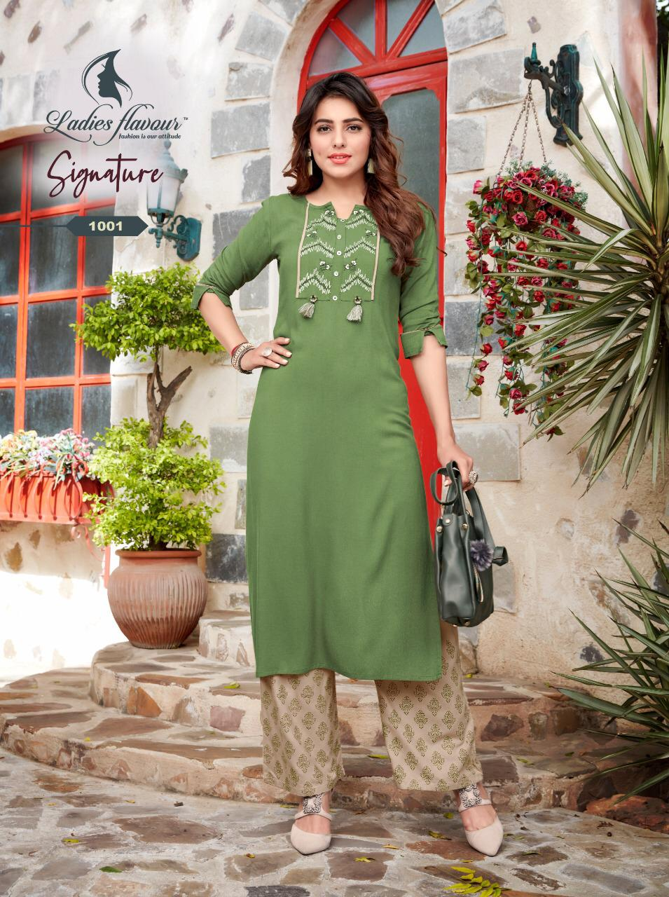 Ladies Flavour Signature Vol 3 Kurti with Palazzo Wholesale Catalog 8 Pcs 3 - Ladies Flavour Signature Vol 3 Kurti with Palazzo Wholesale Catalog 8 Pcs