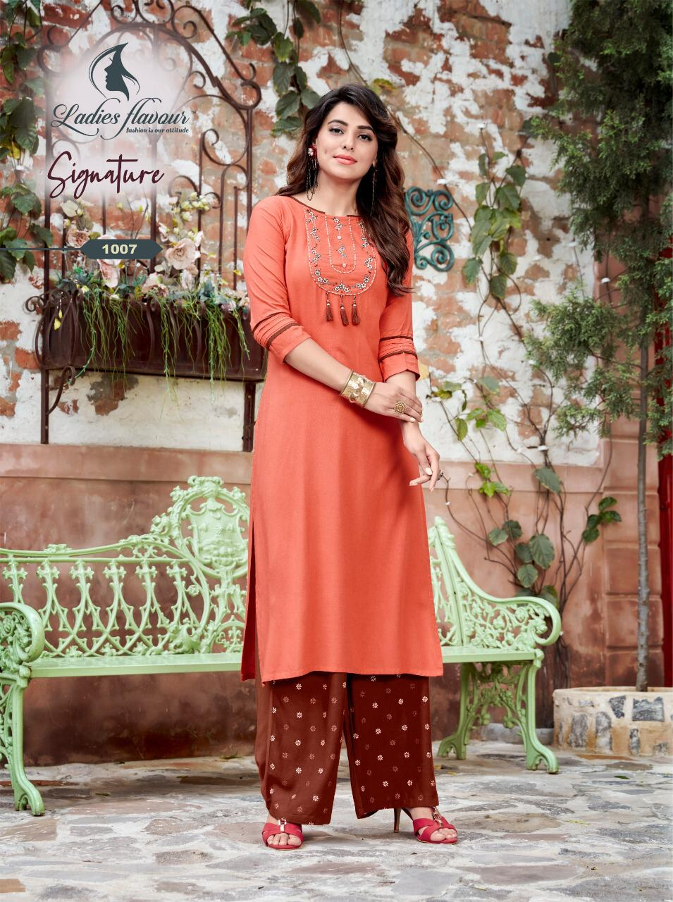 Ladies Flavour Signature Vol 3 Kurti with Palazzo Wholesale Catalog 8 Pcs 5 - Ladies Flavour Signature Vol 3 Kurti with Palazzo Wholesale Catalog 8 Pcs