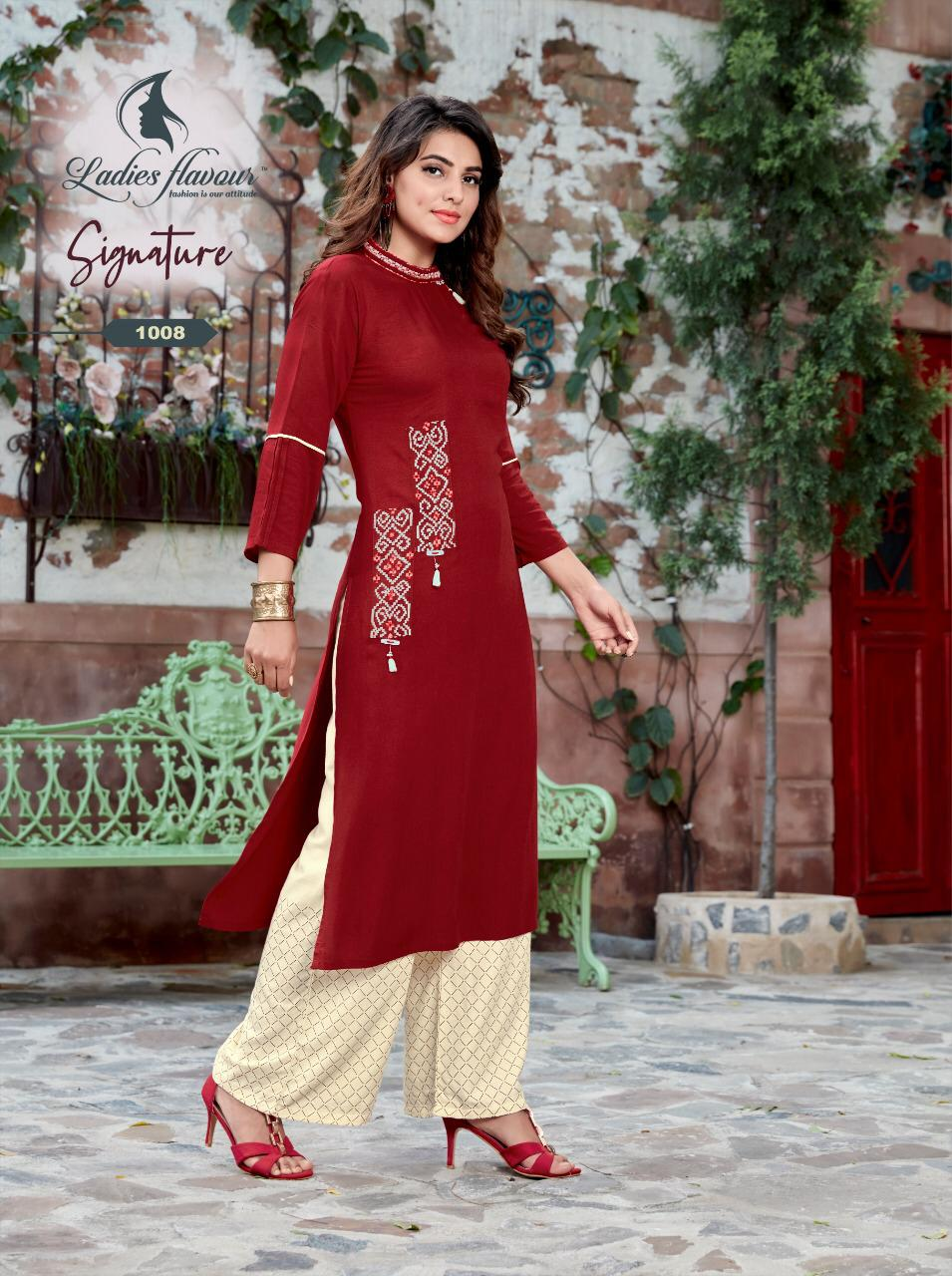 Ladies Flavour Signature Vol 3 Kurti with Palazzo Wholesale Catalog 8 Pcs 7 - Ladies Flavour Signature Vol 3 Kurti with Palazzo Wholesale Catalog 8 Pcs