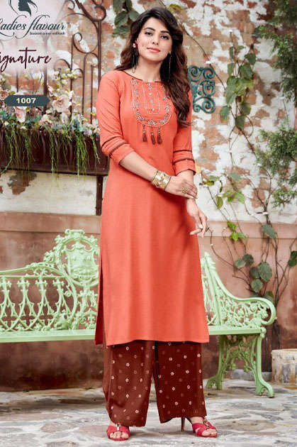 Ladies Flavour Signature Vol 3 Kurti with Palazzo Wholesale Catalog 8 Pcs - Ladies Flavour Signature Vol 3 Kurti with Palazzo Wholesale Catalog 8 Pcs